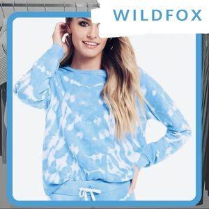 🦊 NWOT WILDFOX Shibori Tide Fiona Crew